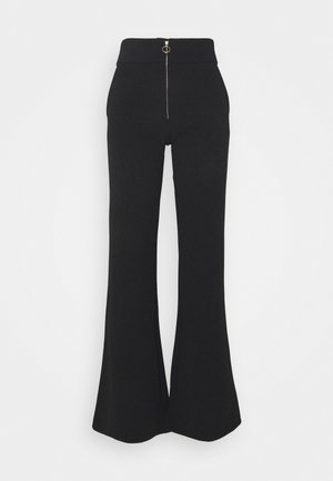 YASVICTORIA ZIP WIDE PANT - Trousers - black