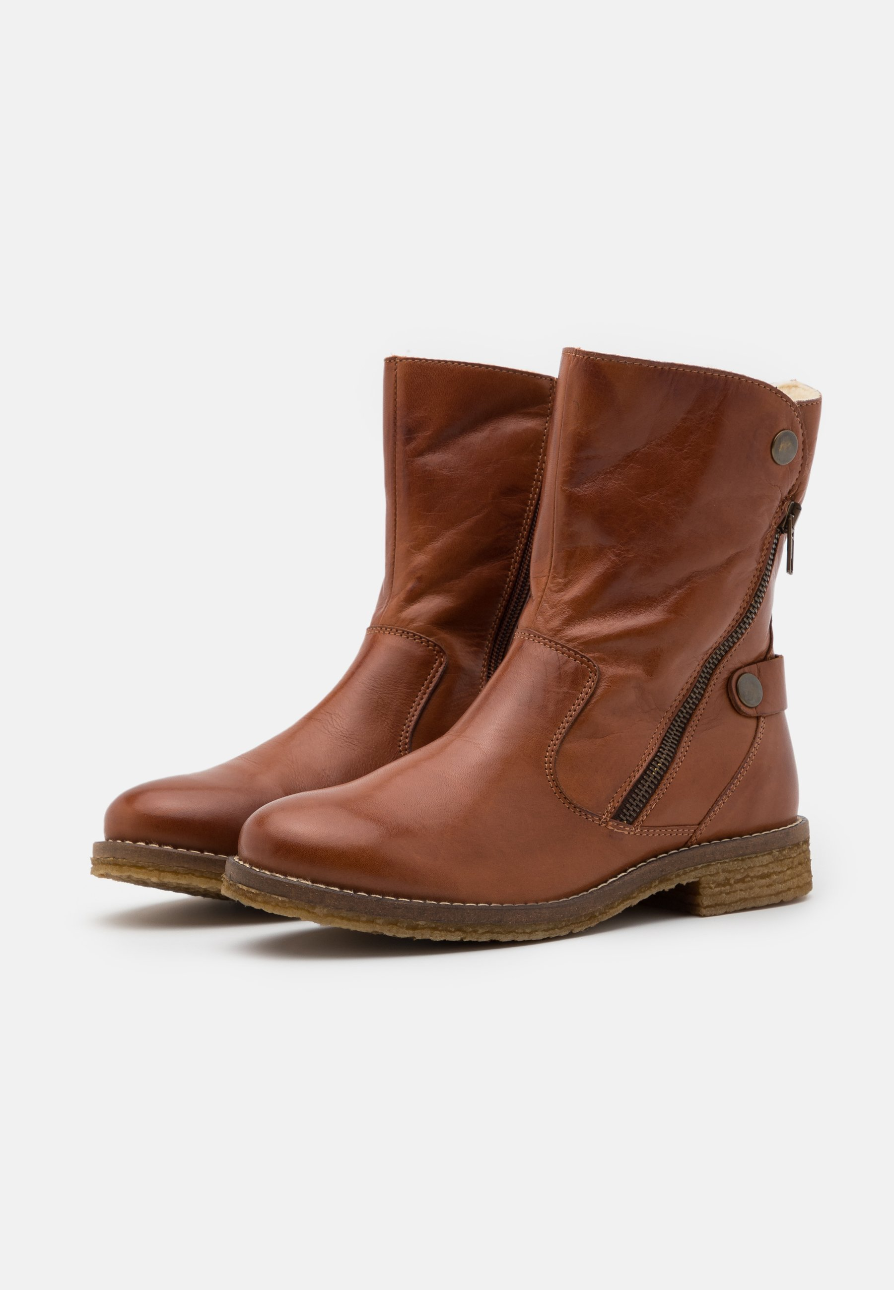 Bianco Biaatalia Winter Zipper Boot - Snowboot/winterstiefel Cognac
