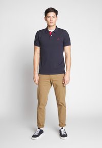 GANT - CONTRAST COLLAR RUGGER - Pikeepaita - evening blue - 1