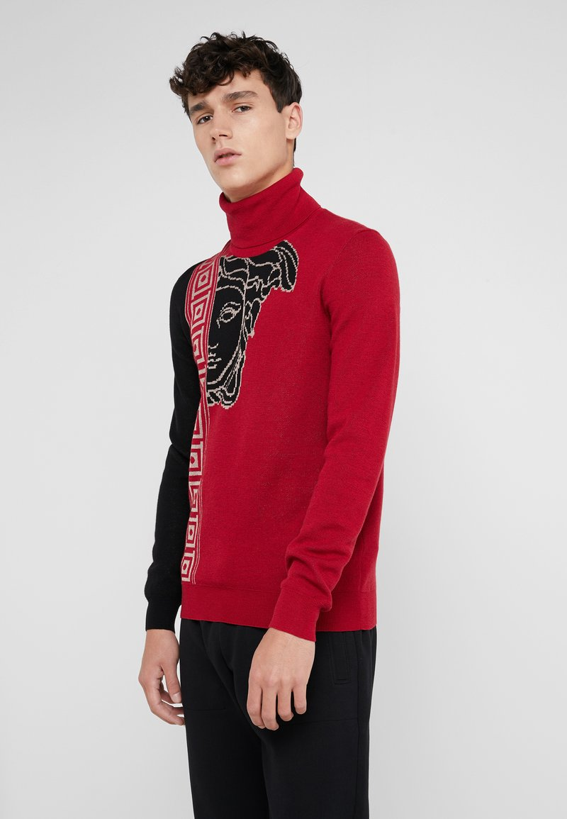 Versace Collection - Jumper - rosso/nero/beige
