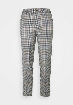CHECKED CIGARETTE PANTS - Trousers - small navy check