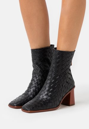 WEST - High heeled ankle boots - black