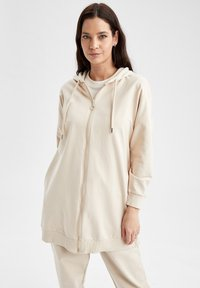 DeFacto - Zip-up sweatshirt - beige - 3