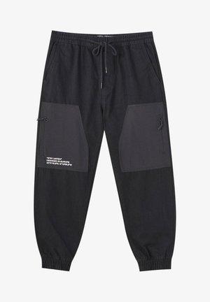 Jeans Tapered Fit - mottled dark grey
