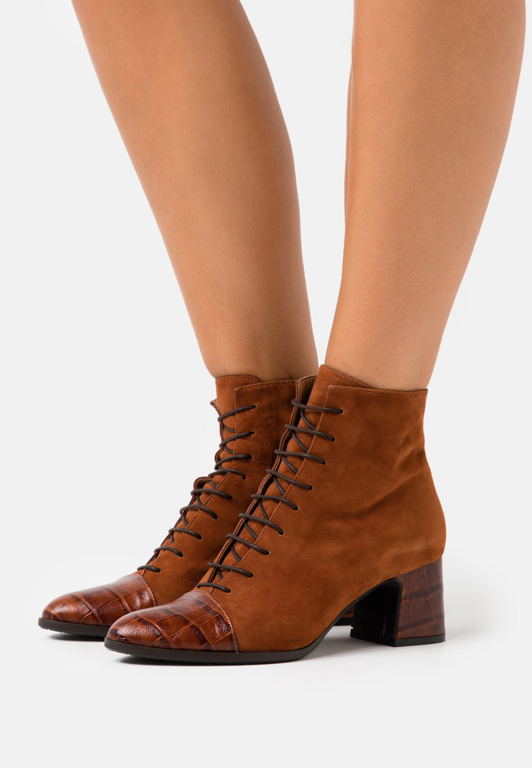 Wholesale Women's Shoes Alberto Zago Ankle boots brown Qug7PySdA