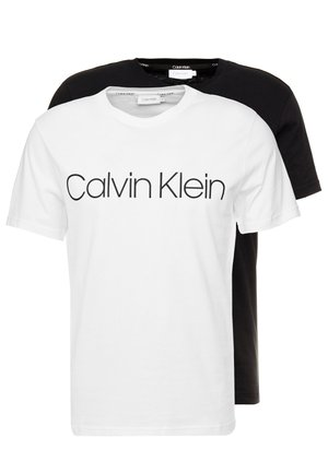 FRONT LOGO 2 PACK - T-shirts med print - black/white
