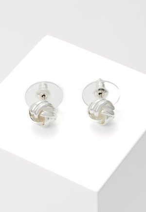 CLAIRE KNOT SMALL - Earrings - silver-coloured