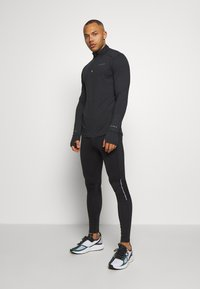 Endurance - ABBAS PRINTED MIDLAYER - Sports shirt - black - 1