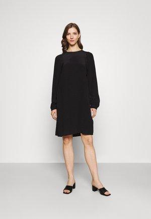 DRESS EASY SHORT STYLE ROUND NECK - Day dress - black