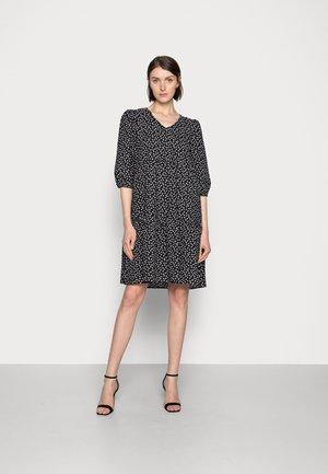 ENCIA DRESS - Sukienka letnia - black/chalk