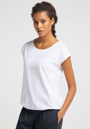Print T-shirt - white_orchid