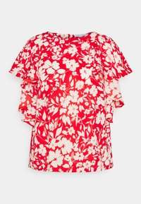 CAPSULE by Simply Be - BALLOON CUFF BLOUSE - Blůza - red - 0