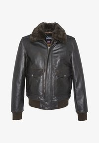 Schott - Leather jacket - marron - 1