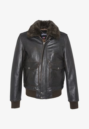 Leather jacket - marron