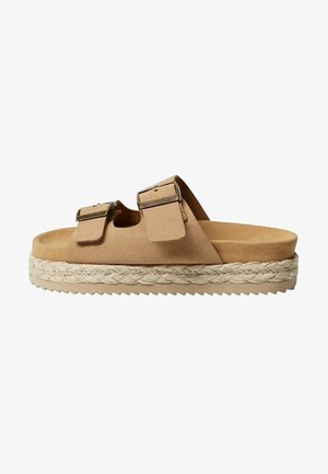 GRETA - Pantofle - open beige