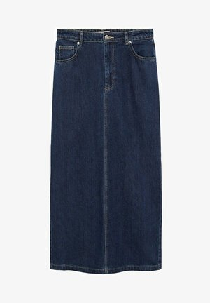 AVENIRS-A - Denim skirt - mørk blå