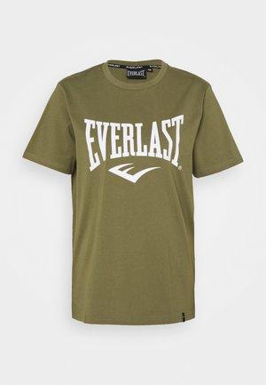 BASIC TEE RUSSEL - Camiseta estampada - khaki