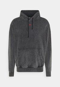 PRAY - UNISEX SANCTUM HOODIE - Zip-up hoodie - acid wash black - 0