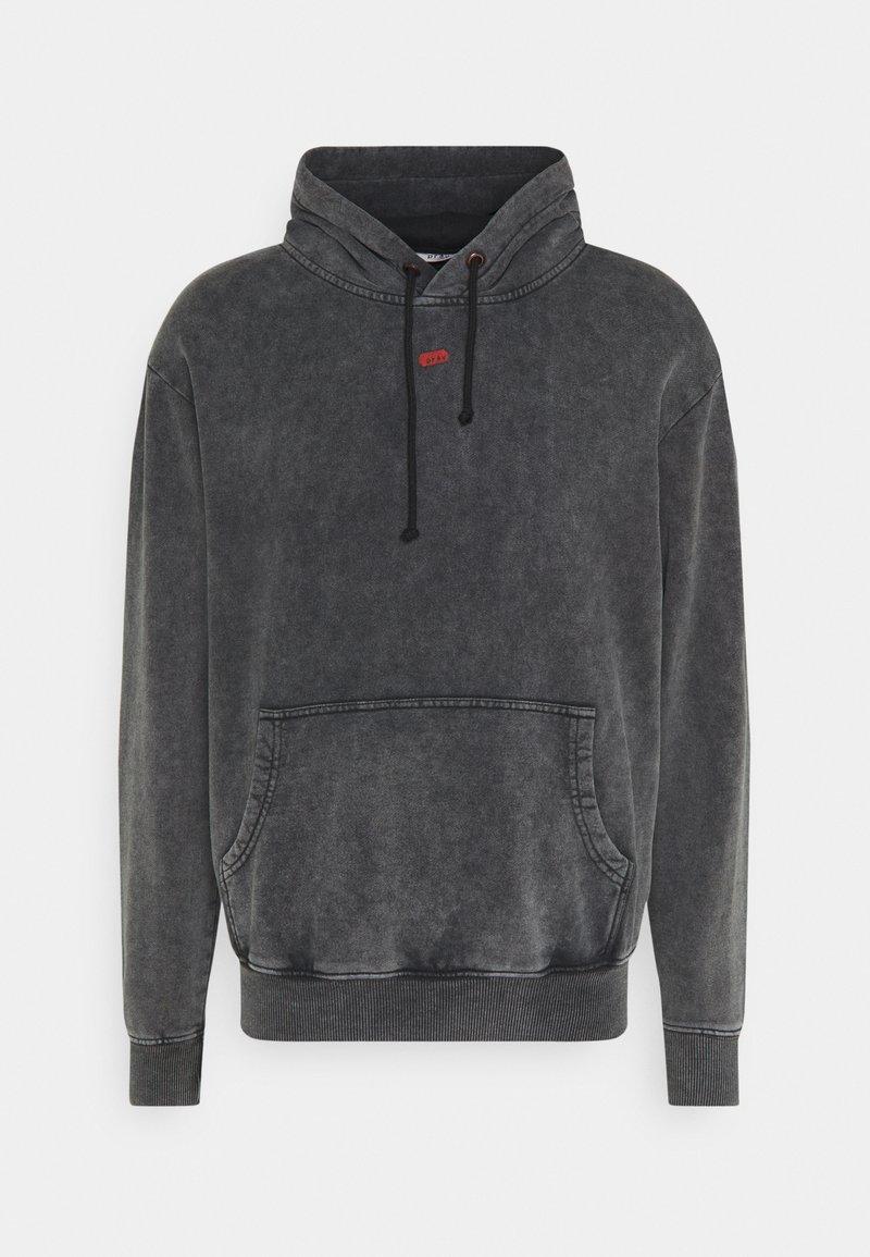 PRAY - UNISEX SANCTUM HOODIE - Zip-up hoodie - acid wash black