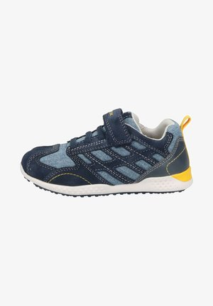Trainers - navy yellow