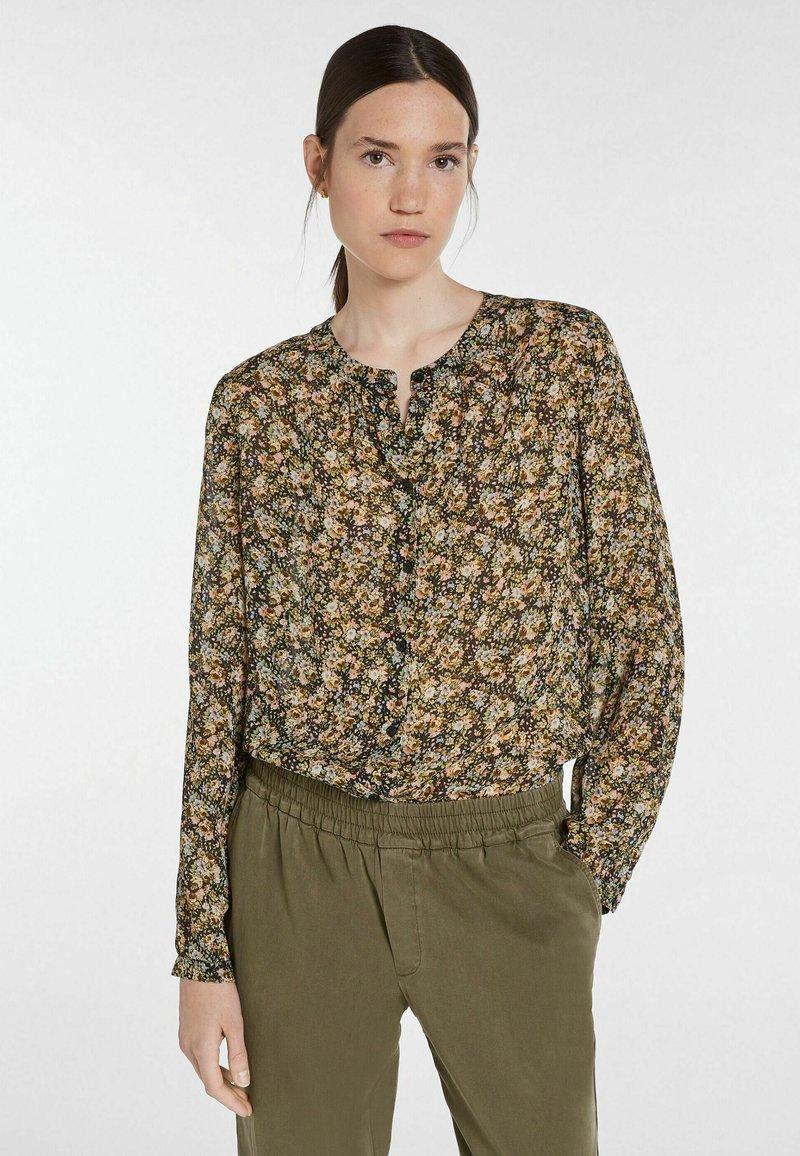 SET - Button-down blouse - black green
