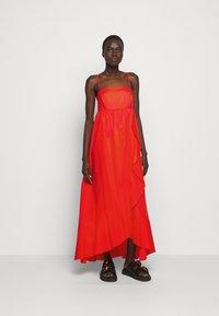 TWINSET - ABITO BUSTINO LUNGO - Maxi dress - corallo - 0