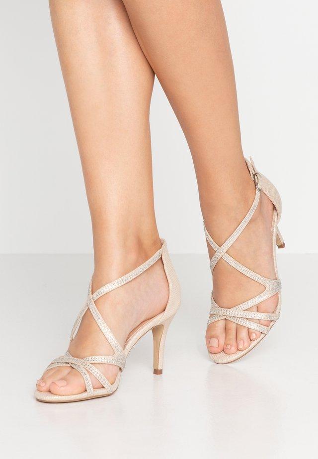 ROMELIA - Højhælede sandaletter / Højhælede sandaler - champagne