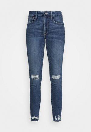 LEGS CHEW AND POCKETS - Vaqueros pitillo - blue