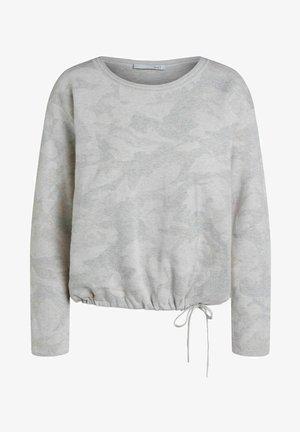 Pullover - white black