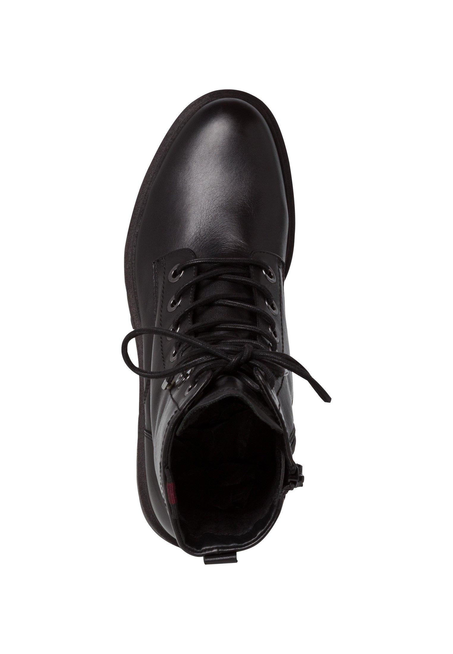 Tamaris BOOTS Schnürstiefelette black leather/schwarz
