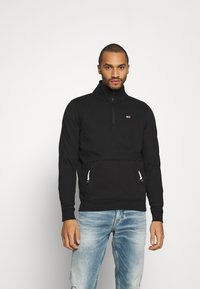 Tommy Jeans - DETAIL MOCK NECK - Sweatshirt - black - 0