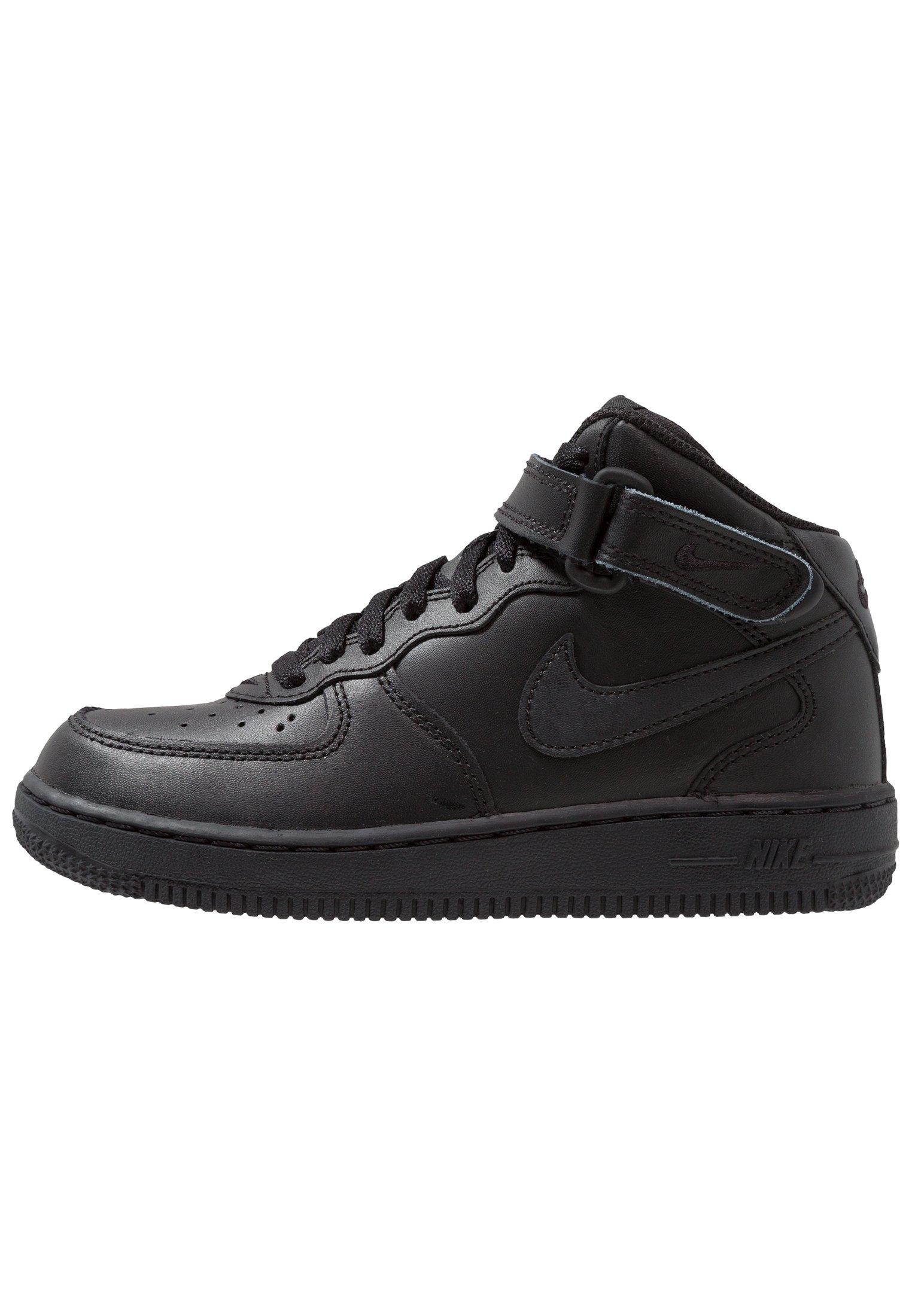 Nike Sportswear AIR FORCE 1 MID - Sneakers alte - black/nero ...