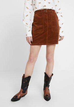 PATCH POCKET SKIRT - Mini skirt - tan
