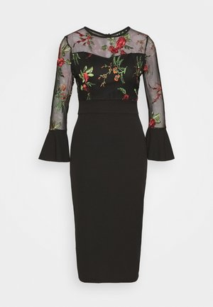 MIDI DRESS - Sukienka koktajlowa - black