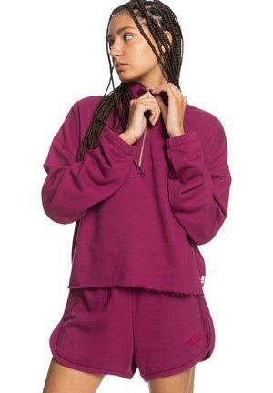 MIT REISSVERSCHLUSS- - Sweatshirt - raspberry radiance