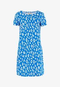 Sugarhill Brighton - ARIANE IKAT LEOPARD - Jersey dress - blue - 4