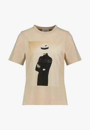 WITH PRINT - Print T-shirt - beige