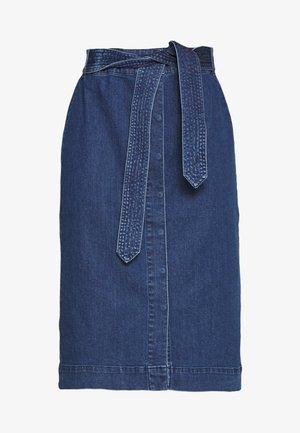 VMKAT DETAIL SKIRT - Blyantnederdel / pencil skirts - medium blue denim