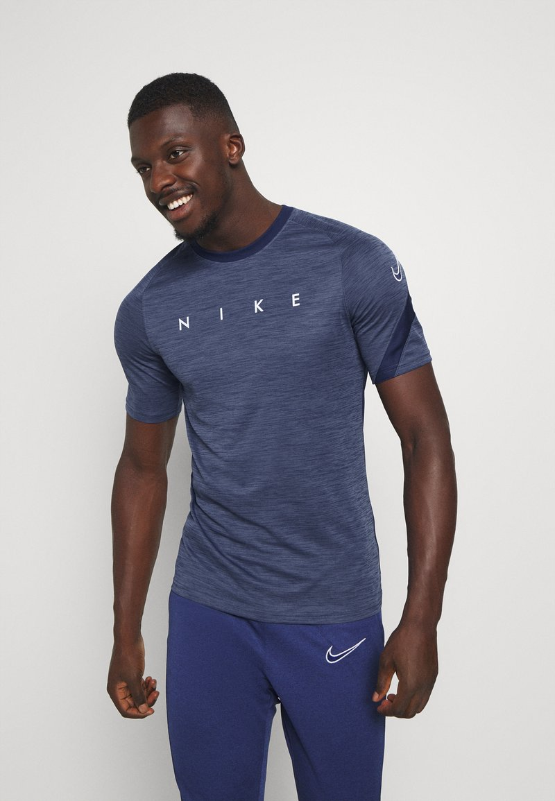 Nike Performance - DRY ACADEMY TOP - Print T-shirt - blue void/white