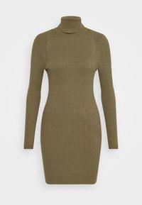 ONLY - ONLELLY ROLLNECK DRESS - Jumper dress - kalamata - 4
