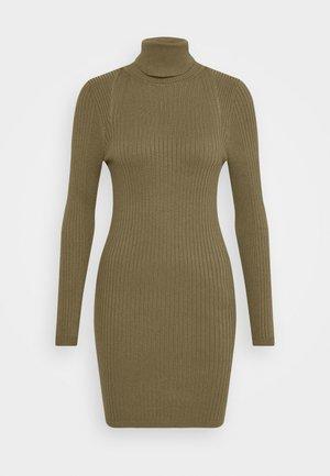 ONLELLY ROLLNECK DRESS - Vestido de punto - kalamata