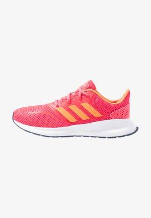 RUNFALCON UNISEX - Neutral running shoes - real pink/semi coral/dark blue