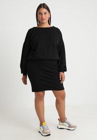 Urban Classics Curvy - LADIES DRESS - Denní šaty - black - 1