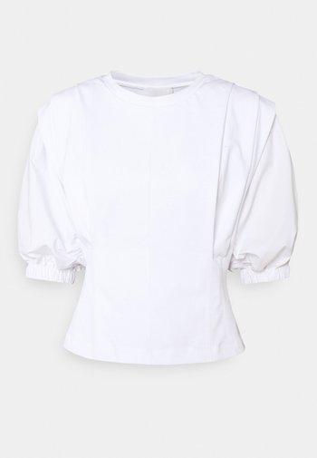 PUFF SLEEVE - Printtipaita - white