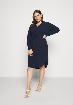 JRVERONICA SOLID ON KNEE DRESS  - Košilové šaty - navy blazer