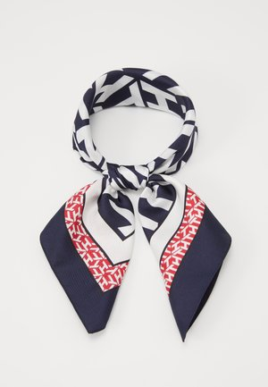 MONOGRAM FRAME SQUARE - Halsdoek - dark blue/white