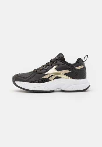 RBK XEONA UNISEX - Sports shoes - core black/gold metallic/footwear white