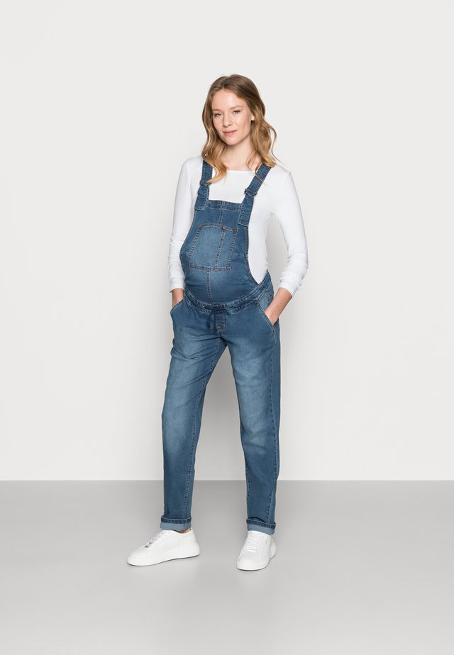 MLSUNRISE COMFY OVERALL - Ogrodniczki - medium blue denim