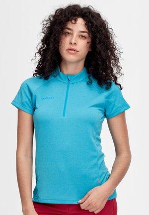 AEGILITY HALF ZIP - Basic T-shirt - ocean melange