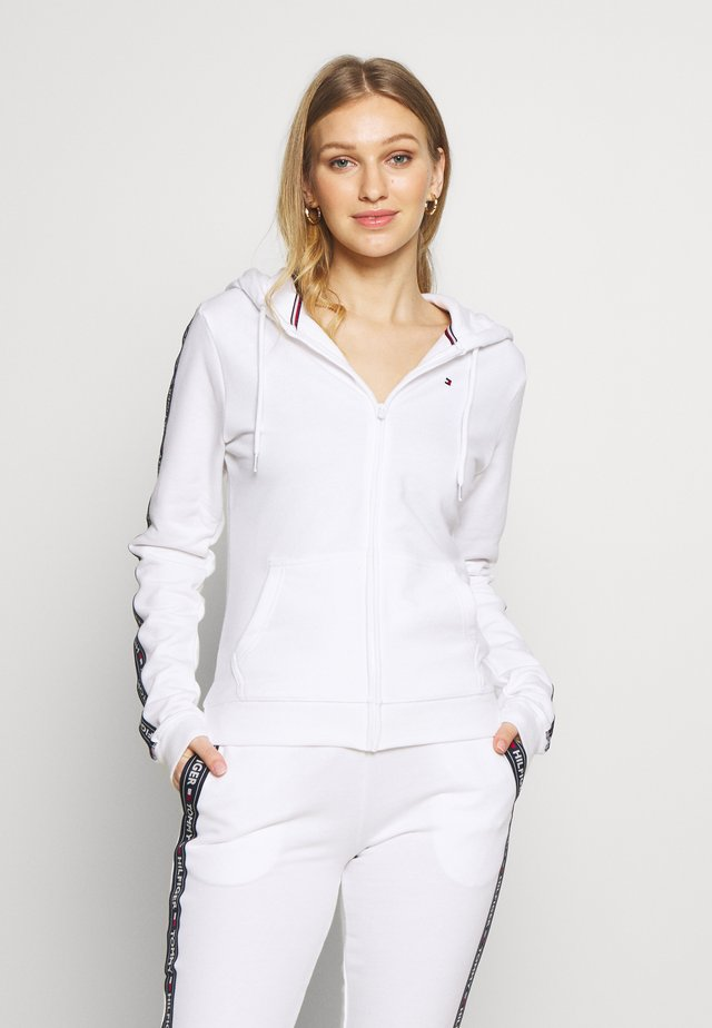 AUTHENTIC HOODY - veste en sweat zippée - classic white